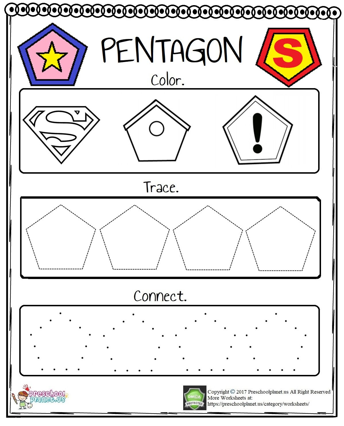 Pentagon Worksheet In