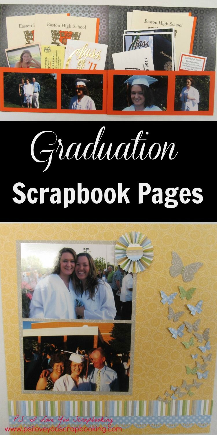 Scrapbook ideas high school - Graduation Scrapbooking Pages Here Are Some Layouts To Help You With Ideas For