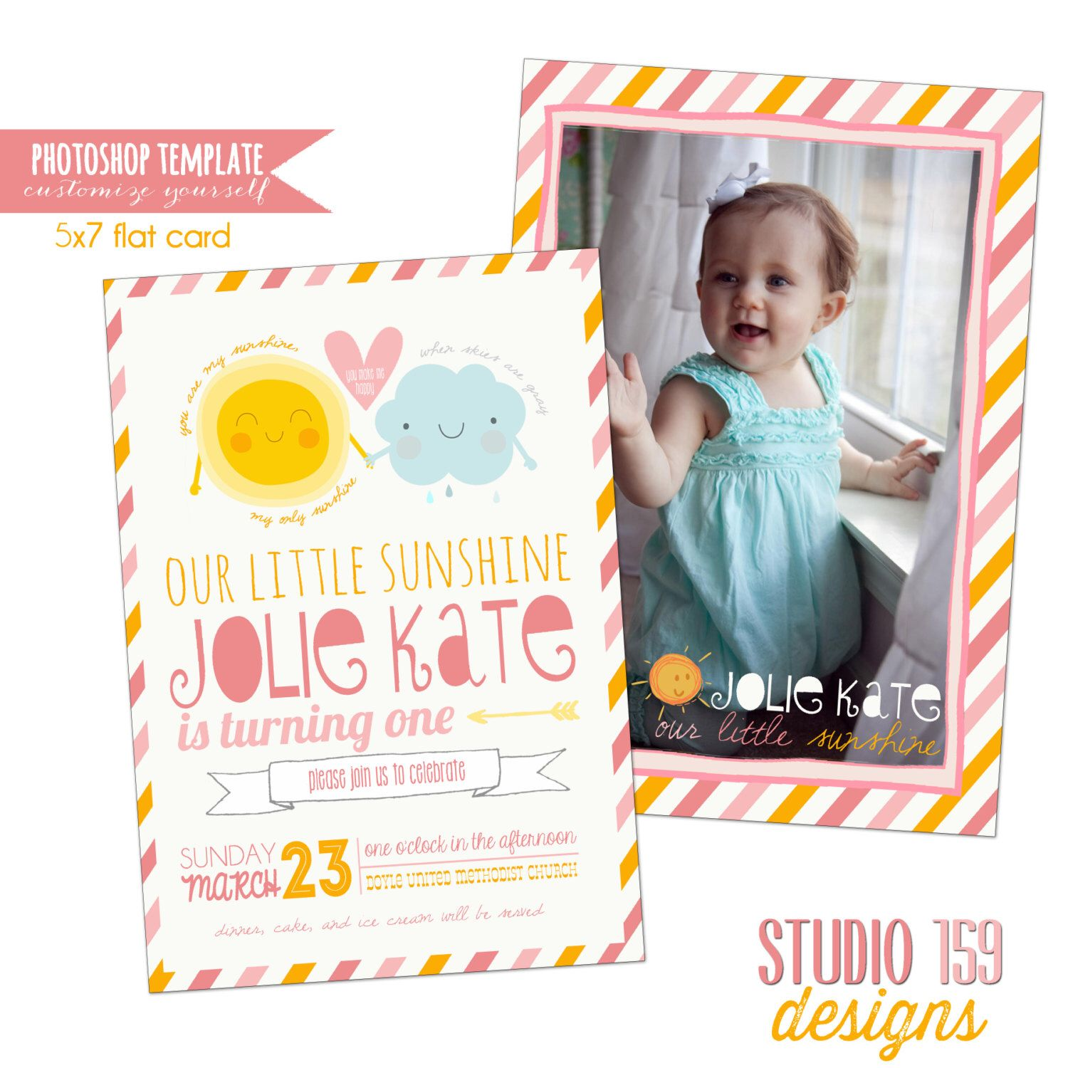 INSTANT DOWNLOAD shop Template You Are My Sunshine Birthday