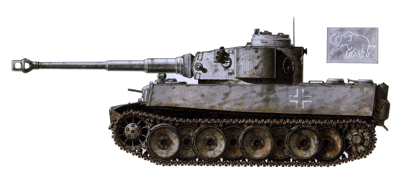 Tiger I numeral 100, Early Production, I Kompanie, sPzAbt 502