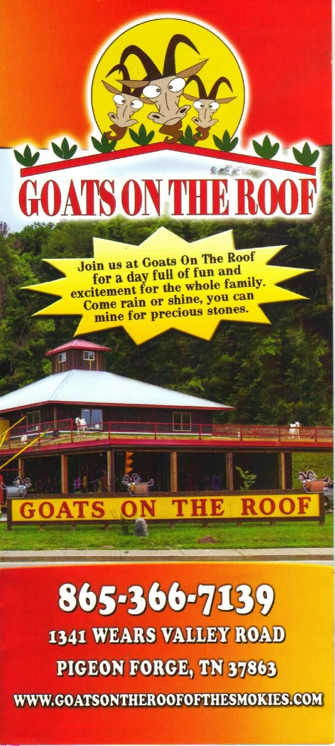 Goats On The Roof Smokey Mountains Vacation Gatlinburg Tennessee Vacation Pigeon Forge Tennessee