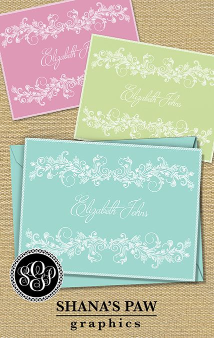 this shanaspaw com note card design features a wedgwood style design