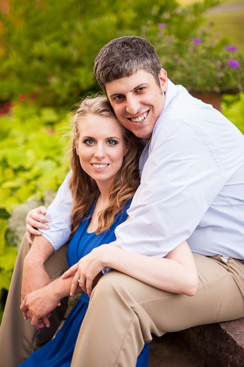 Engaged couple on steps - Tavia Larson Photography, Enagagement Photography in Central Pennsylvania