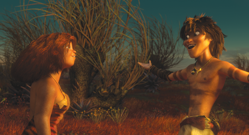 The Croods Eep And Guy Kiss