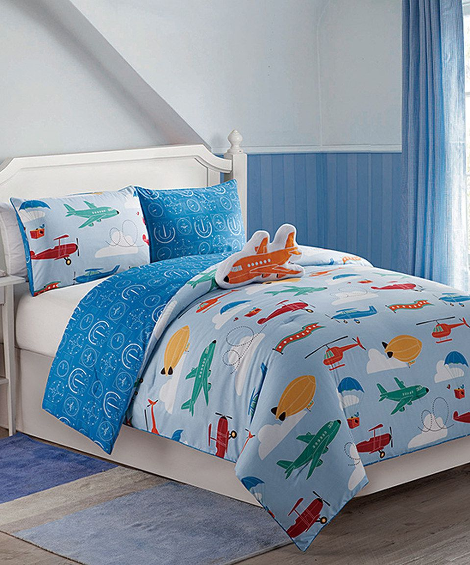 Look what I found on #zulily! Blue Glider Comforter Set by Victoria Classics #zulilyfinds