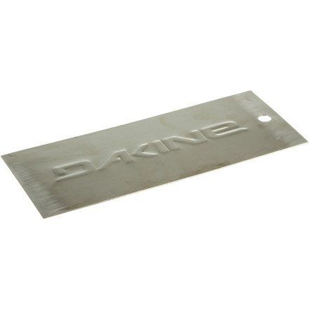 Dakine Snowboarding Metal Scraper (Assorted, 6-Inch) by Dakine. $9.66. The DAKINE Metal Scraper is what professionals working is shop basements everywhere use to get excess p-tex and base-weld off the base of the board quickly and effectively. Product FeaturesMaterial: stainless steelDimensions: Recommended Use: scraping P-Tex, waxManufacturer Warranty: