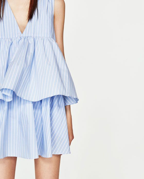 3bddddbf3ad Image 6 of STRIPED JUMPSUIT DRESS WITH RUFFLES from Zara
