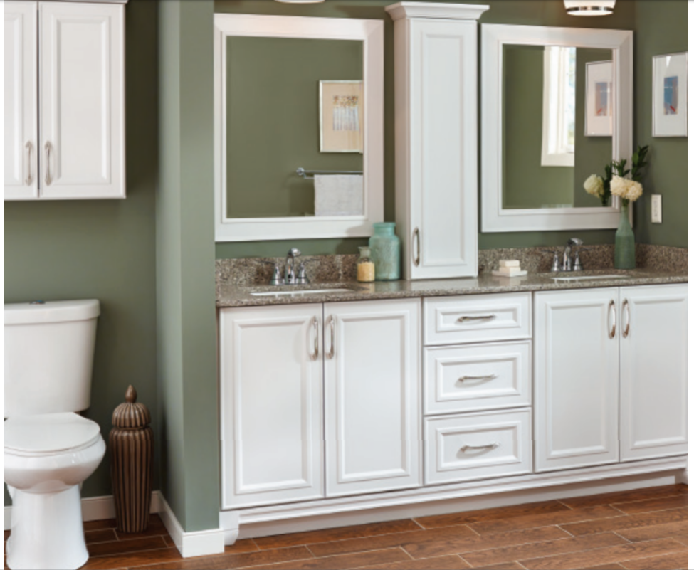Villa Bath Cabinetry Catalina Door Style 2 X 30 Inch Vanity Base 18 Drawer Stack Available At Lowes