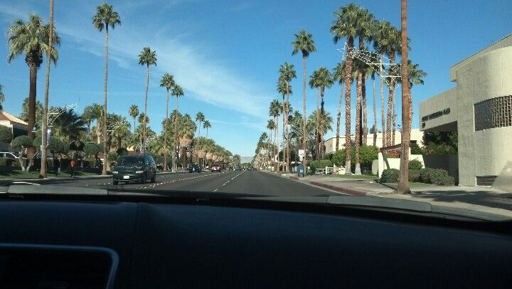 Driving around palm springs california palm springs