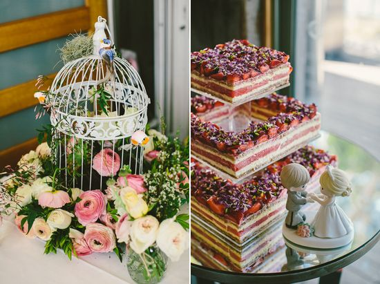 Black Star Pastry Created A Watermelon And Strawberry Layered Wedding Cake Ivy Johns Sydney