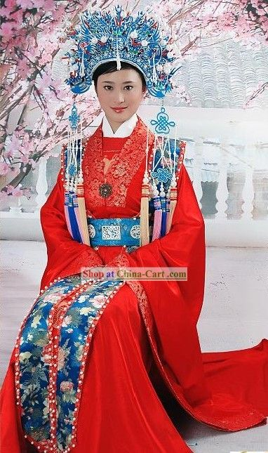 Supreme Chinese Traditional Red Wedding Dress