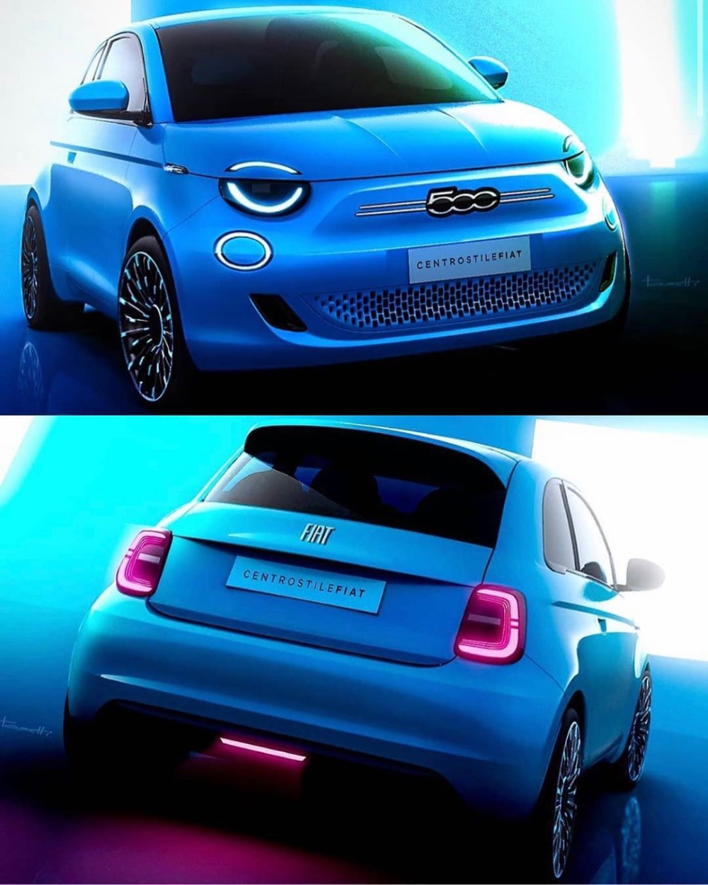 """Car Design Daily on Instagram: """"Fiat 500 By Danilo Tosetti • What do you think of this color? . For"""