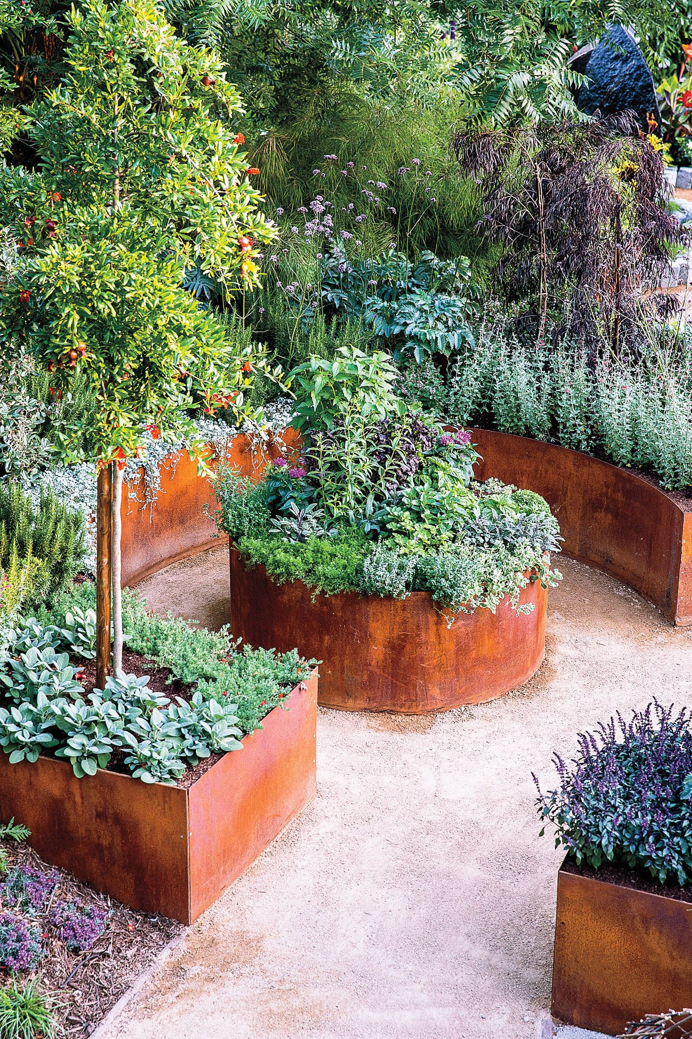 Vegetable garden design  Create flow  Haver  Pinterest  Landscaping design Garden ideas