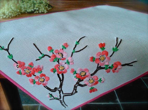 Blossom,vintage,embroiderd