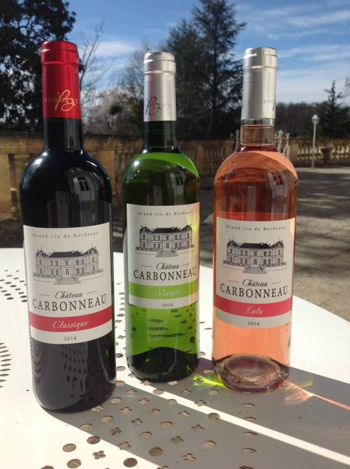New wines featuring on our drinks list from Chateau Carbonneau