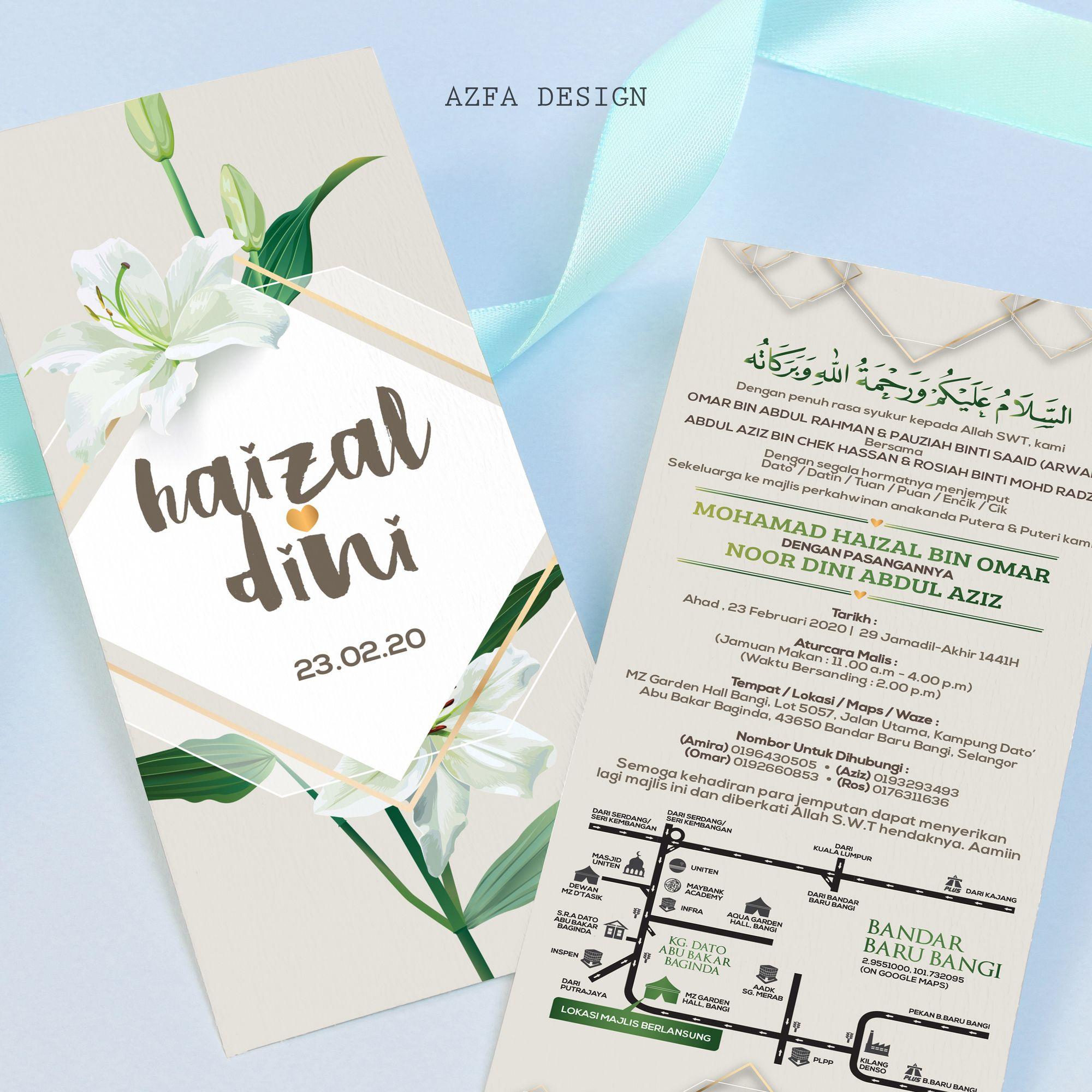 Kadkahwin Customize Kad Kahwin Anda Azfa Design Sedia Membantu Eh Taknak Ke Kad Kahwin Korang Nampak Spe Invitation Cards Invitations Whatsapp Message