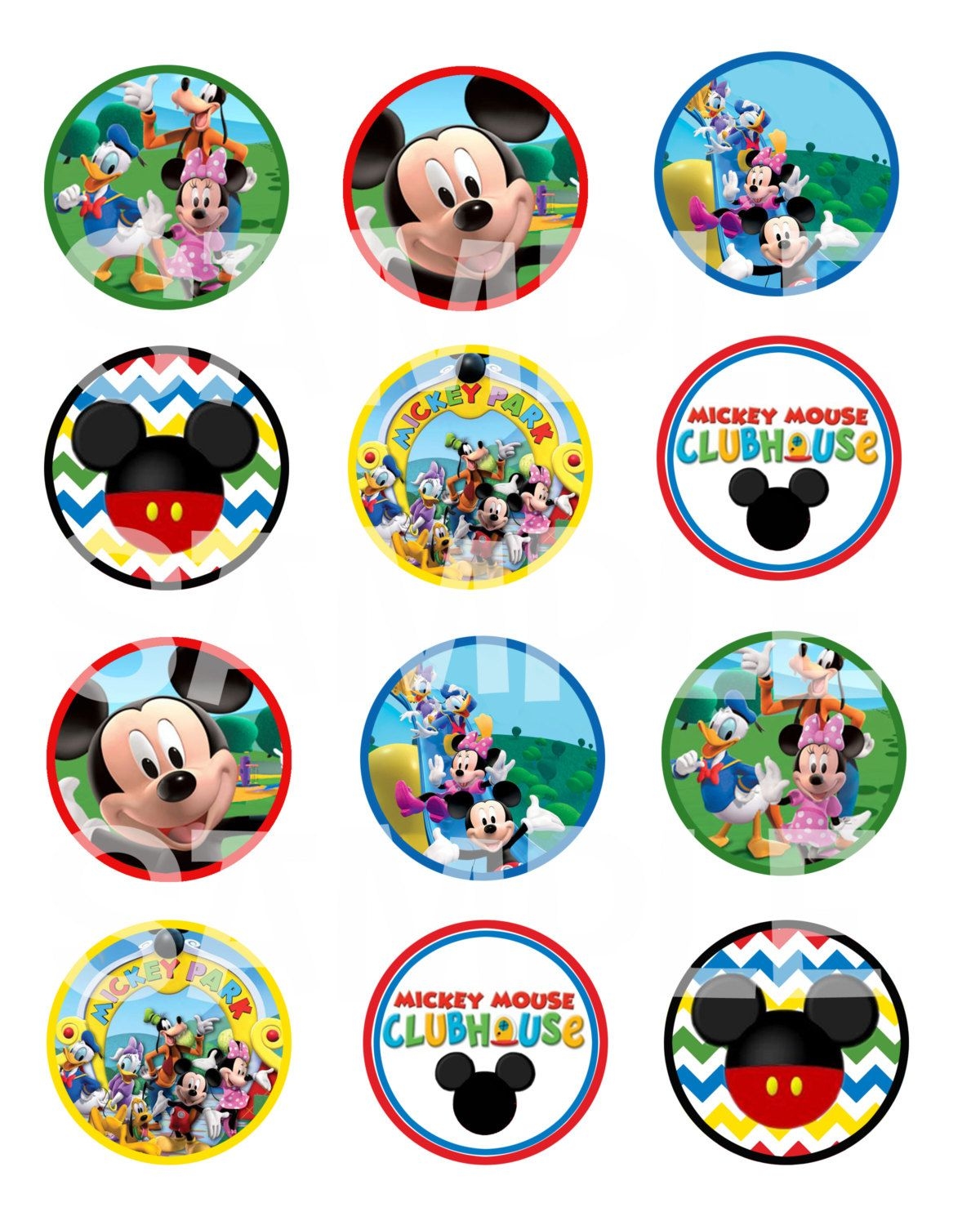 Mickey Mouse Clubhouse Cupcake Topper / by ... Mickey Mouse Cupcake Toppers Printable