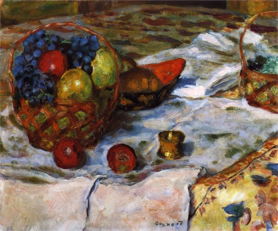 Still Life with Earthenware Dish by Pierre Bonnard