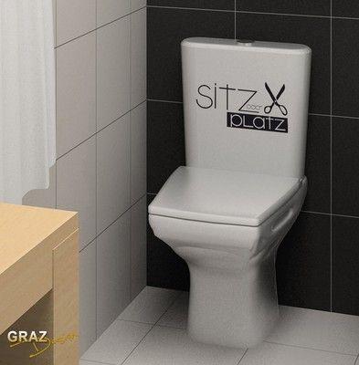 Details zu Wandtattoo Badezimmer WC Toiletten Spruch Sitzplatz - wandtattoo für badezimmer