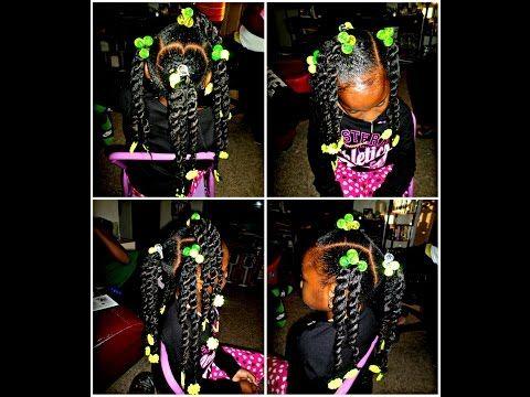 Princess Diva Cute Little Girls Style Cuban Twist Hair Braids