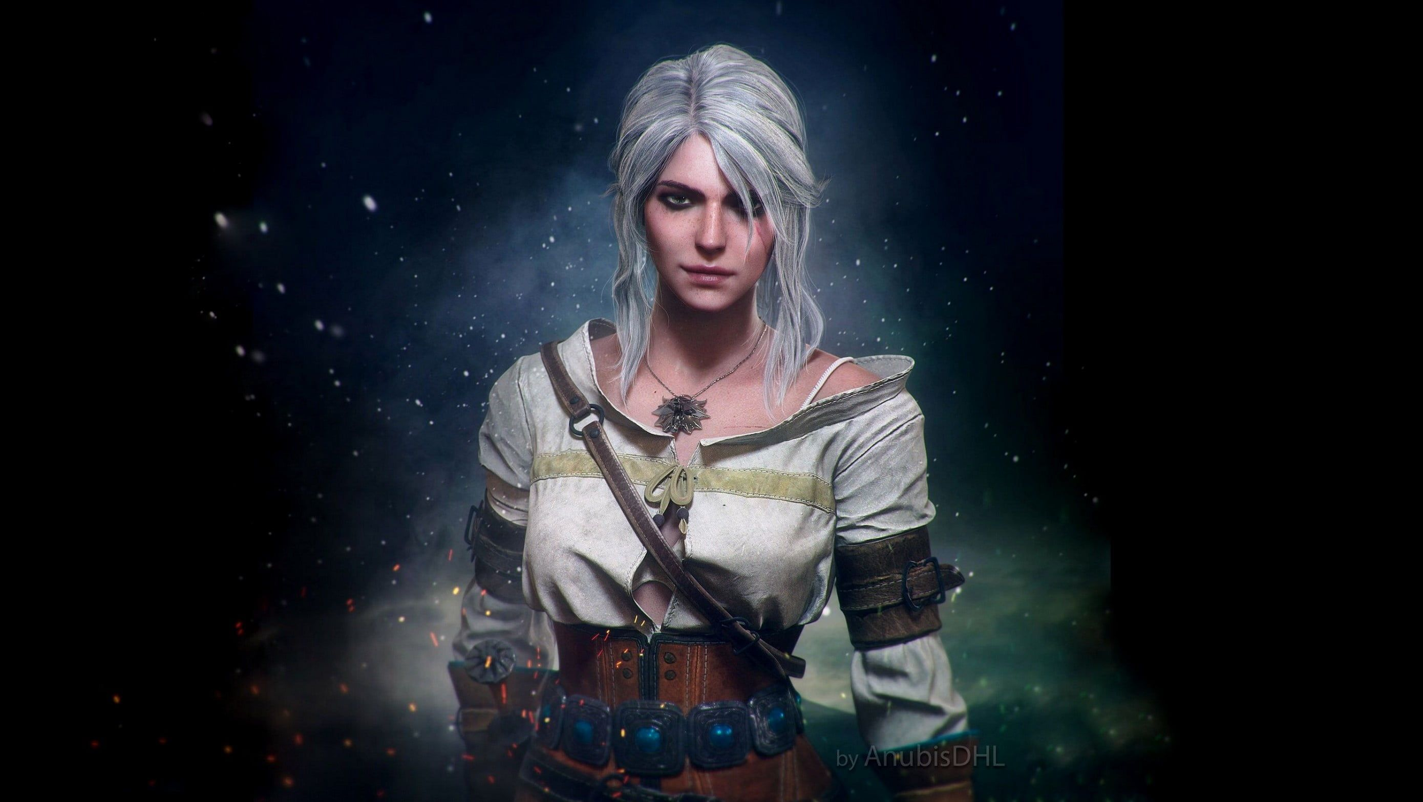 Ciri Fantasy Girl The Witcher 3 Wild Hunt Video Game Art Video