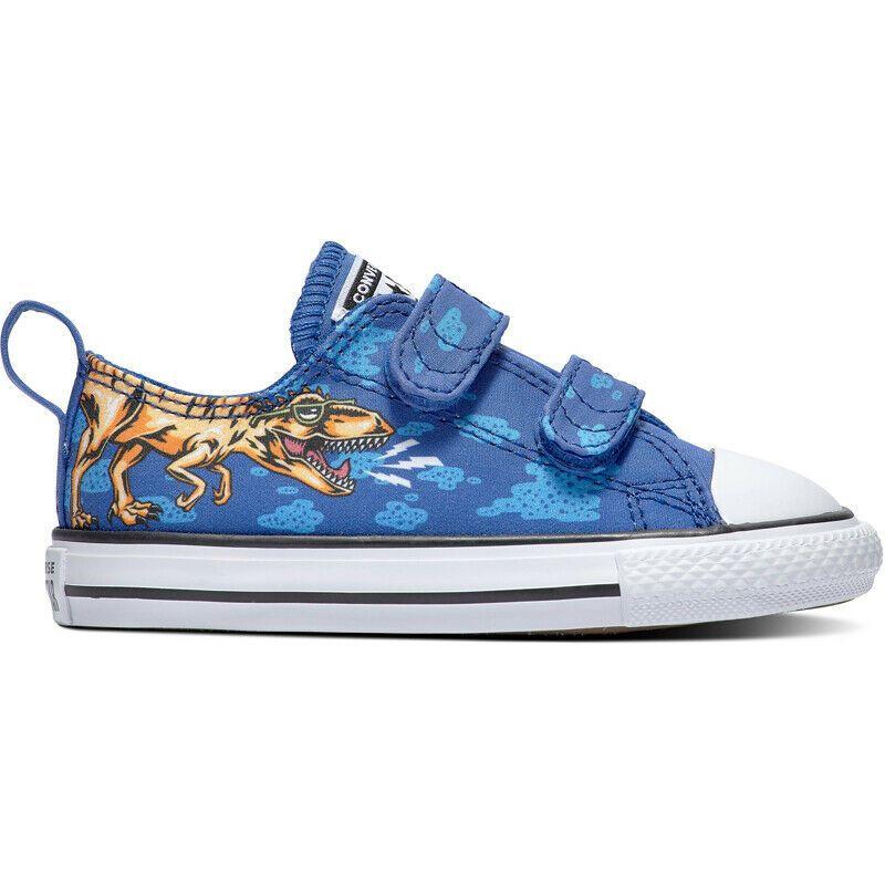 3fb4d06a44ca4 (eBay Sponsored) Converse Chuck Taylor All Star 2V Dino s Beach Party Blue  Textile Baby