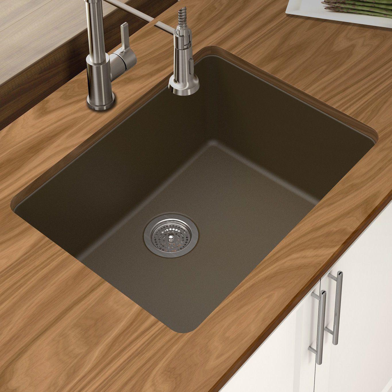 """Granite Quartz 25"""" X 185"""" Single Bowl Undermount Kitchen Sink Gorgeous Undermount Kitchen Sink Inspiration"""