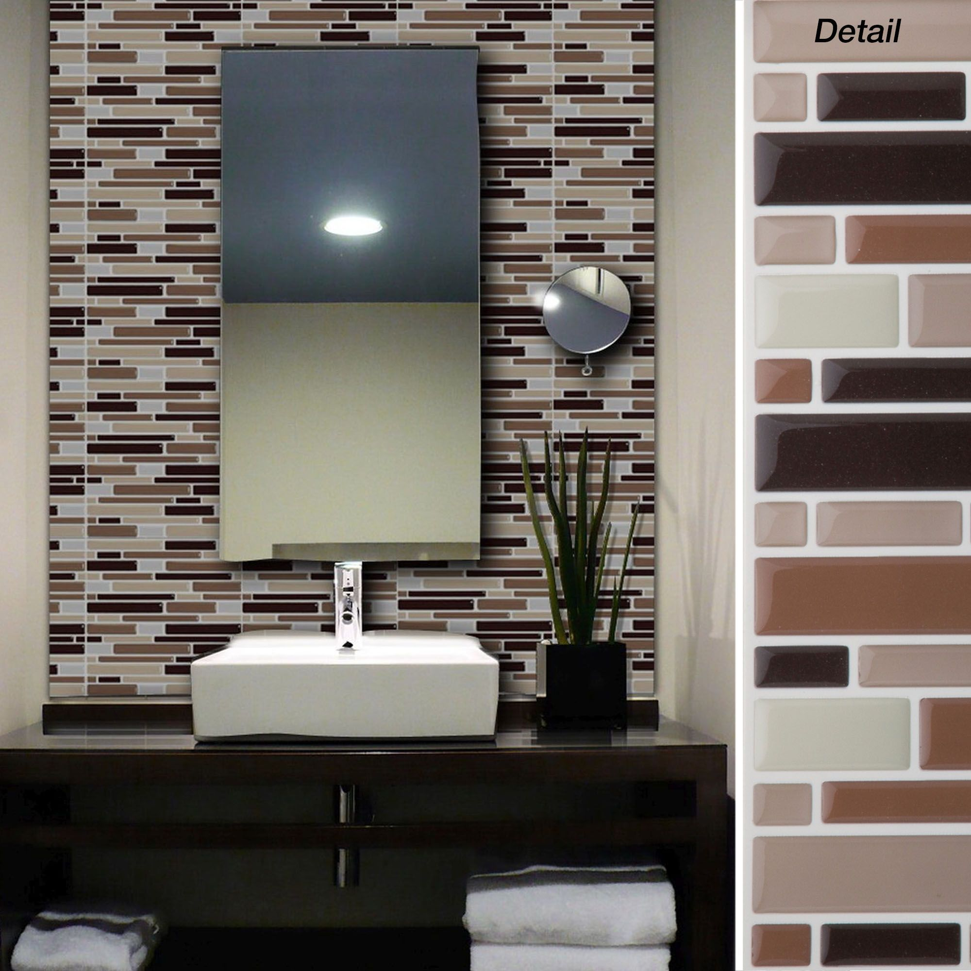 Peel and stick wall tiles bathroom - Self Adhesive Glass Wall Tiles Jc Designs