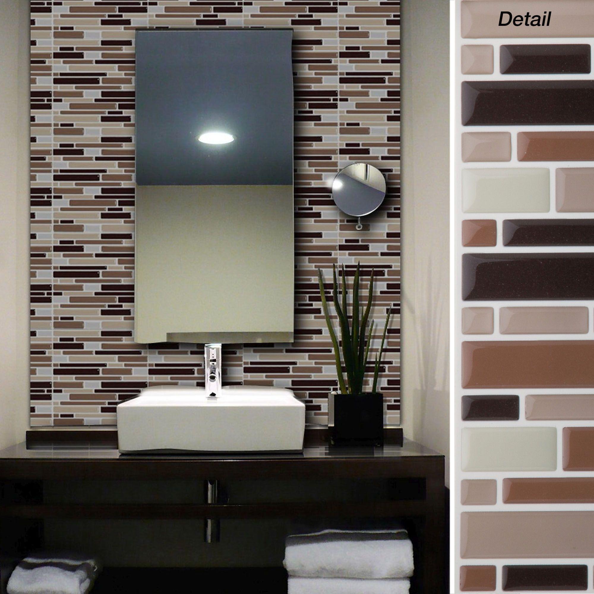 Self Adhesive Glass Wall Tiles Jc Designs Ideas Pinterest Wall
