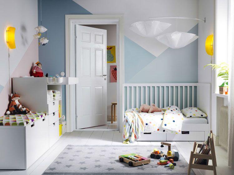 Idées chambre enfant IKEA- union de meubles pratiques et déco ...
