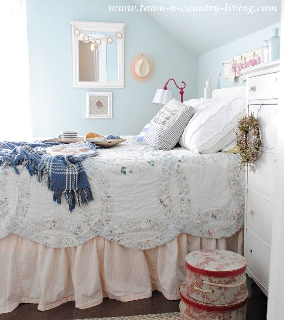 Cozy Comfy Bedding That's Oh So Pretty  Farmhouse Style Bedrooms Cool Farmhouse Style Bedroom Design Ideas