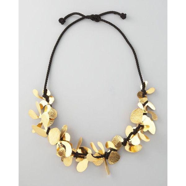 Herve Van Der Straeten Coral Twine Necklace ❤ liked on Polyvore
