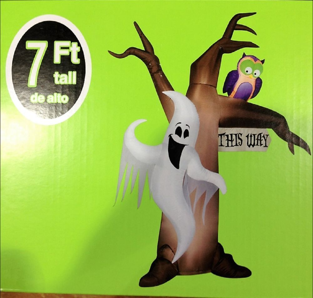 gemmy airblown inflatable x ghostly tree halloween decoration