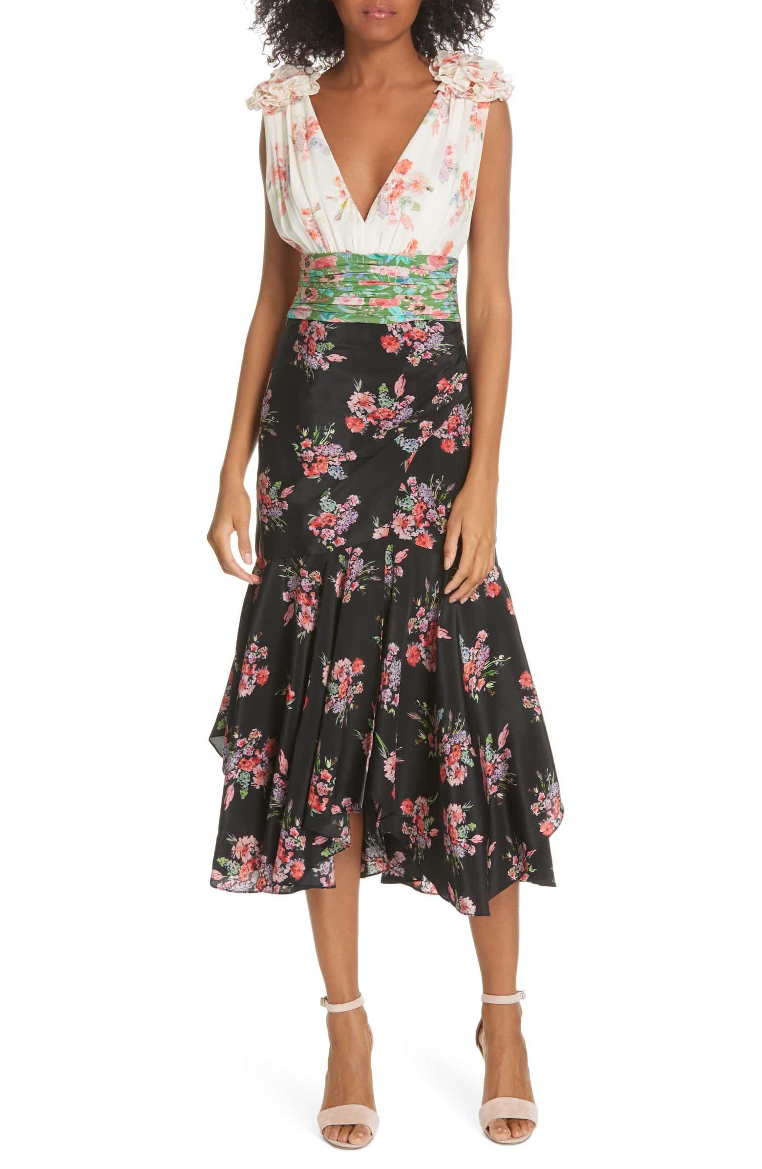 eb1e8ff129 Lolly Floral Print Silk Dress