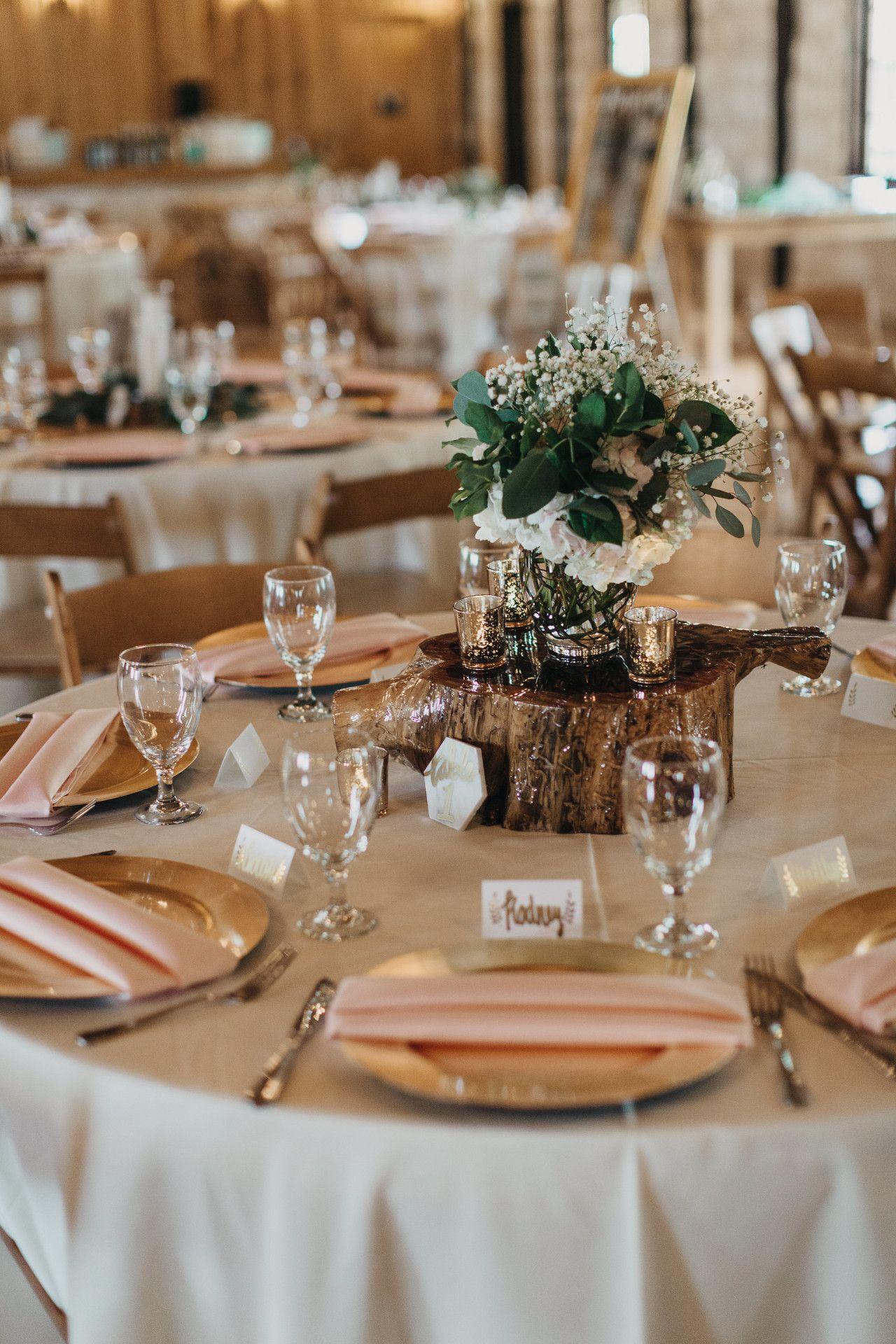 White Gold Blush Pink Wedding Table Decor Wedding Reception