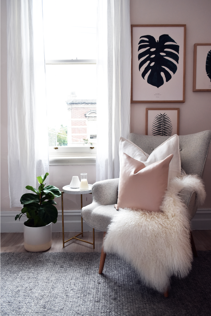 Wohnzimmer Weiblich Kate Kate X Norsu Blush Leather Cushion The Block Shop