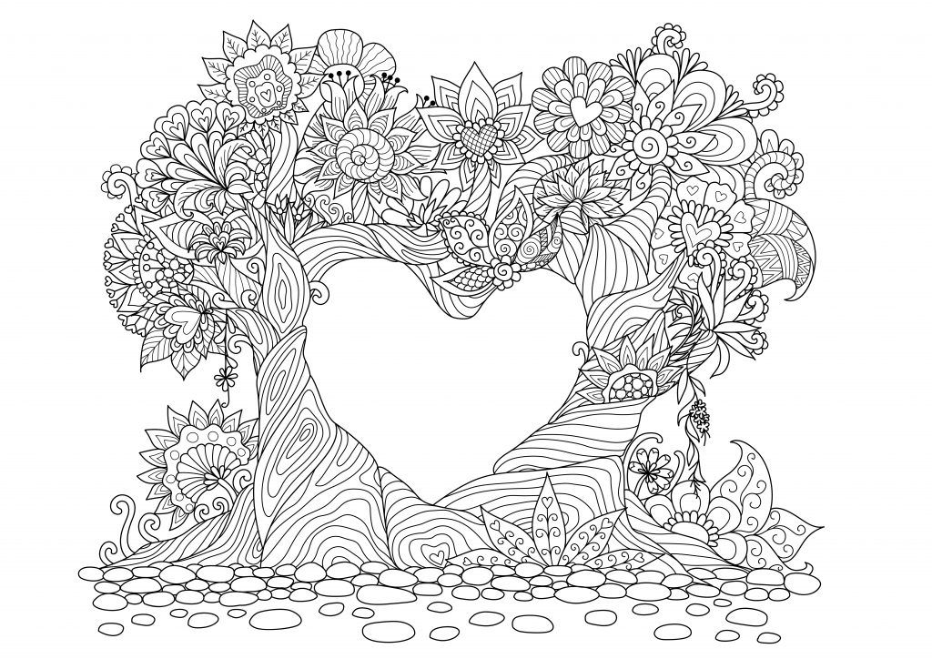 Mandalas De Amor Para Pintar Y Regalar With Images Line Art