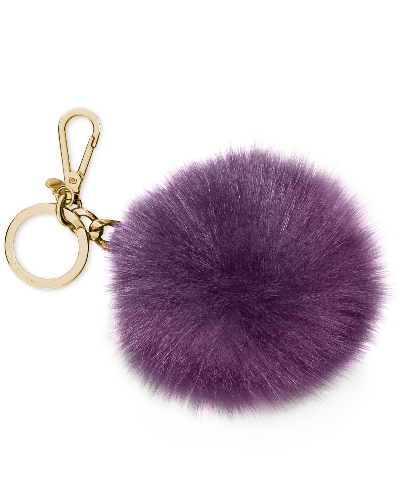 45294ef058 MICHAEL Michael Kors Extra Large Fur Pom Pom Key Chain - Handbags    Accessories - Macy s