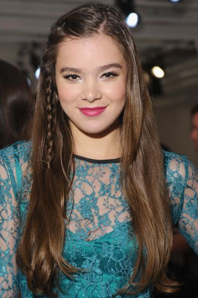 Add interest to long, straight strands with a French braid above the ear, like Hailee Steinfeld wears here. via StyleList
