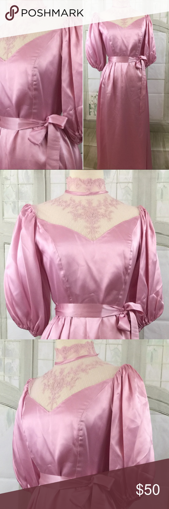 Pretty in pink us prom dress vintage size s full length skirts
