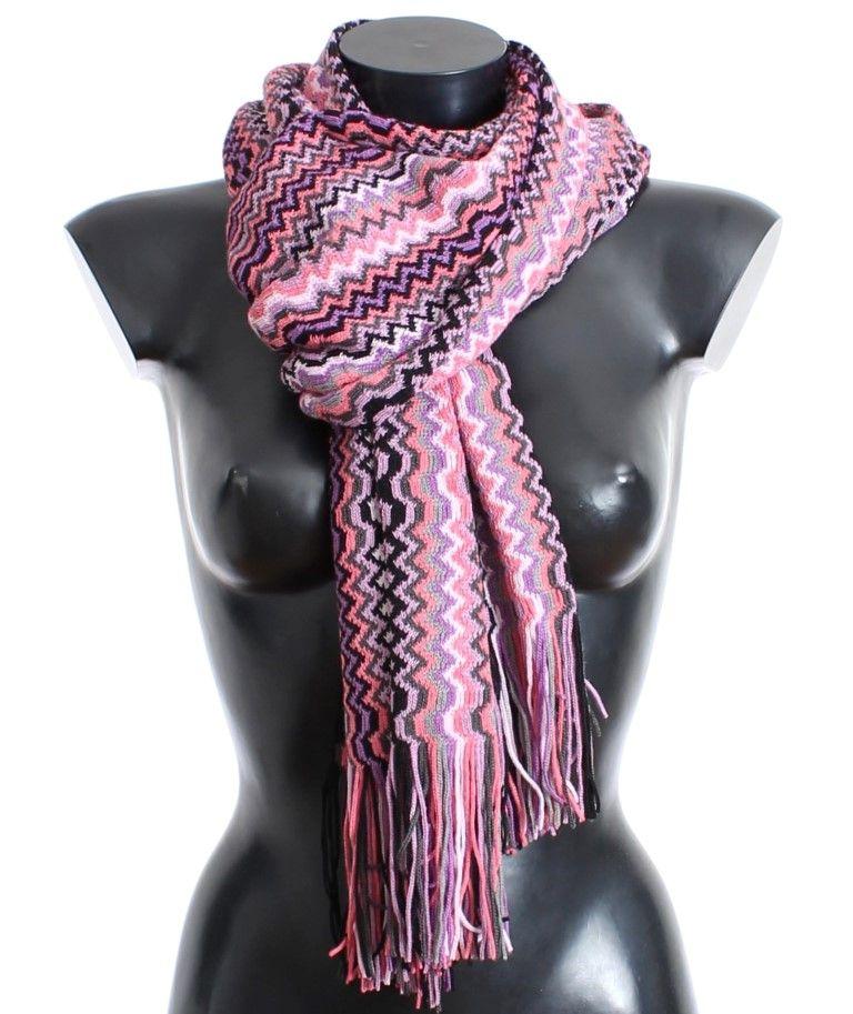 f4d338183 Multicolor zig zag pattern wool scarf   Missoni Women Scarves   Wool ...