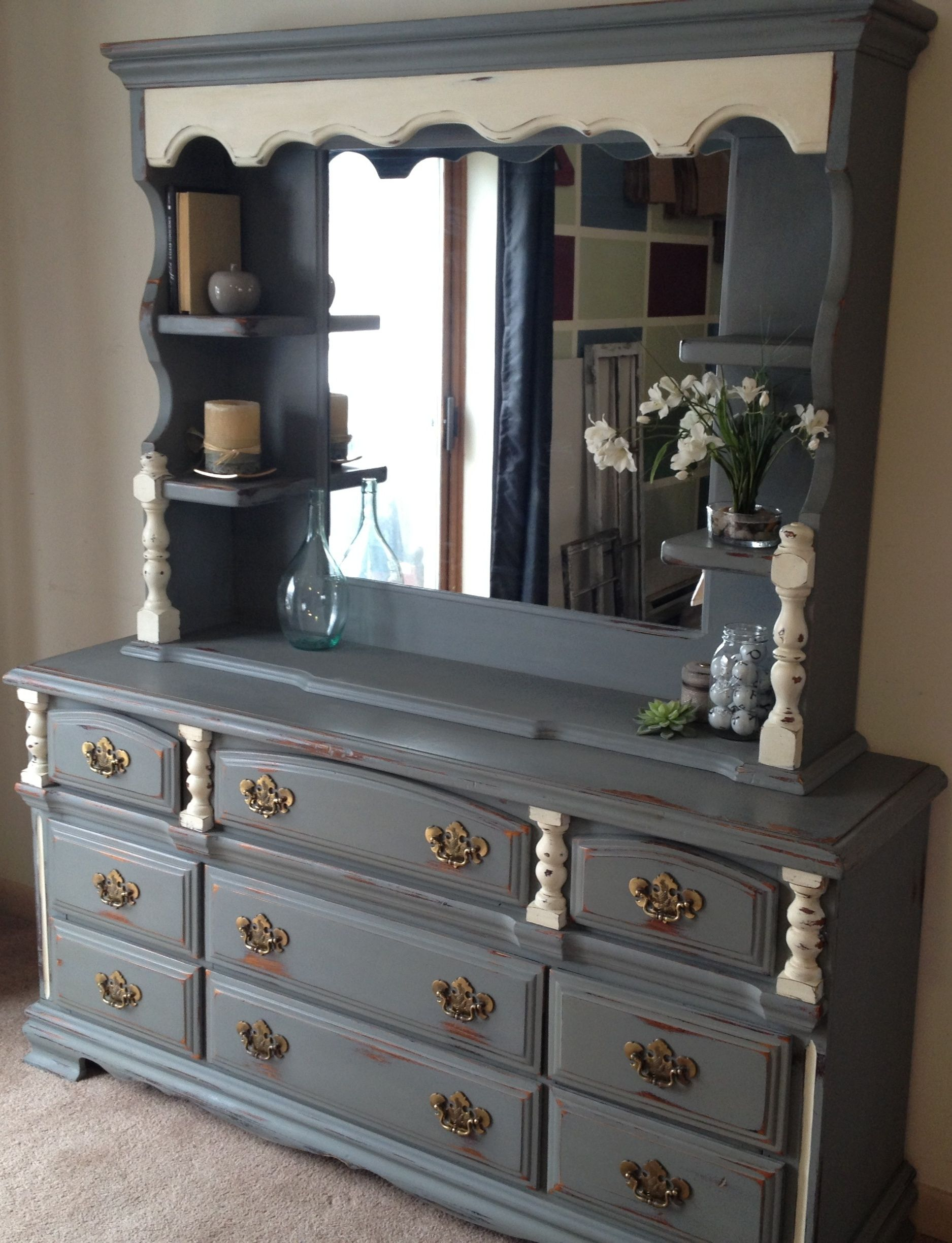 dresser with hutch mirror mirror shelf painted dresser with mirror google search furniture in 2018
