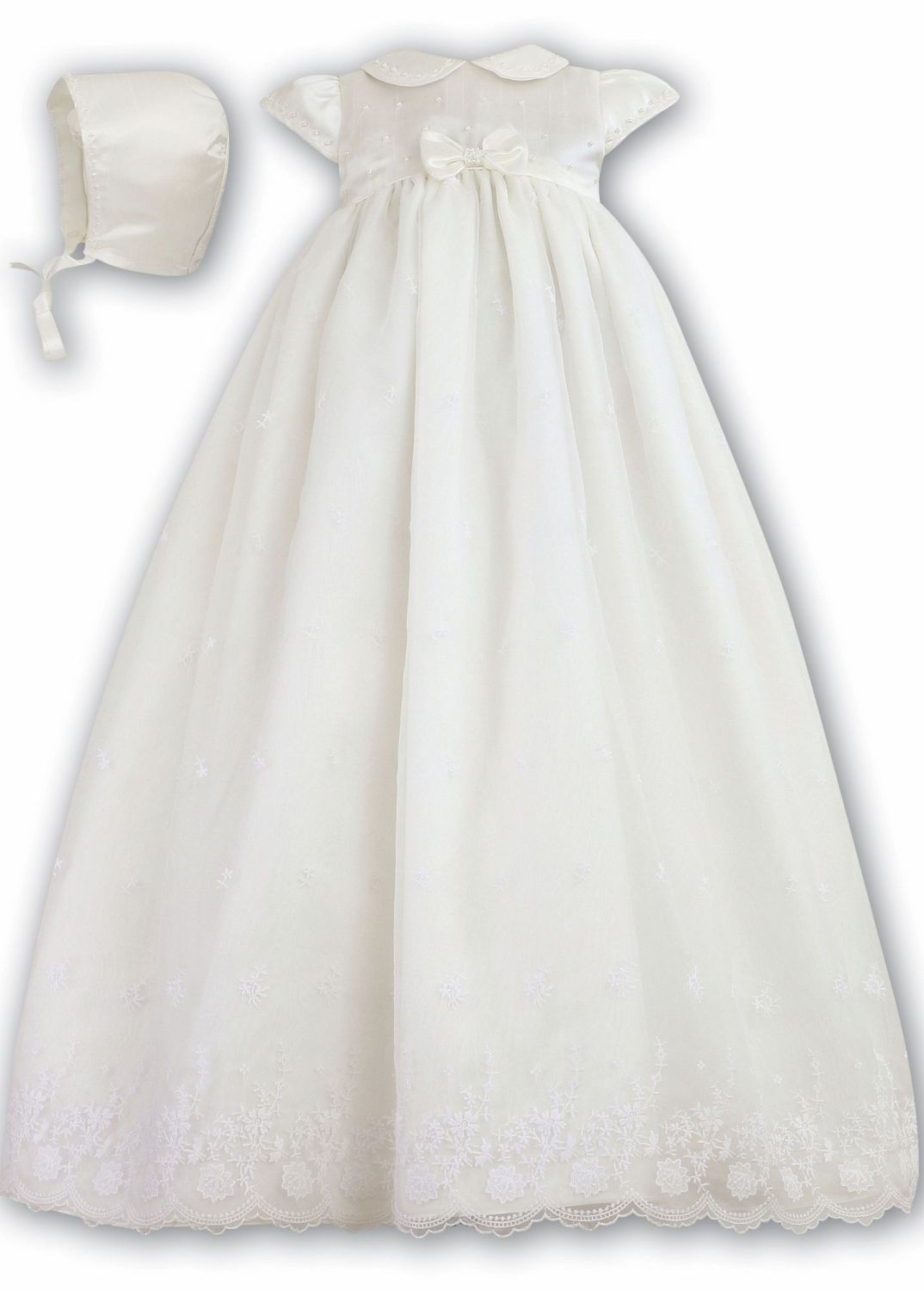 Beautiful baby christening gown by sarah louise made with a satin