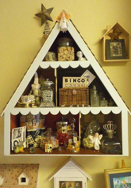 Doll House storage unit for vintage ephemera - Maggie Raguse (mag ...
