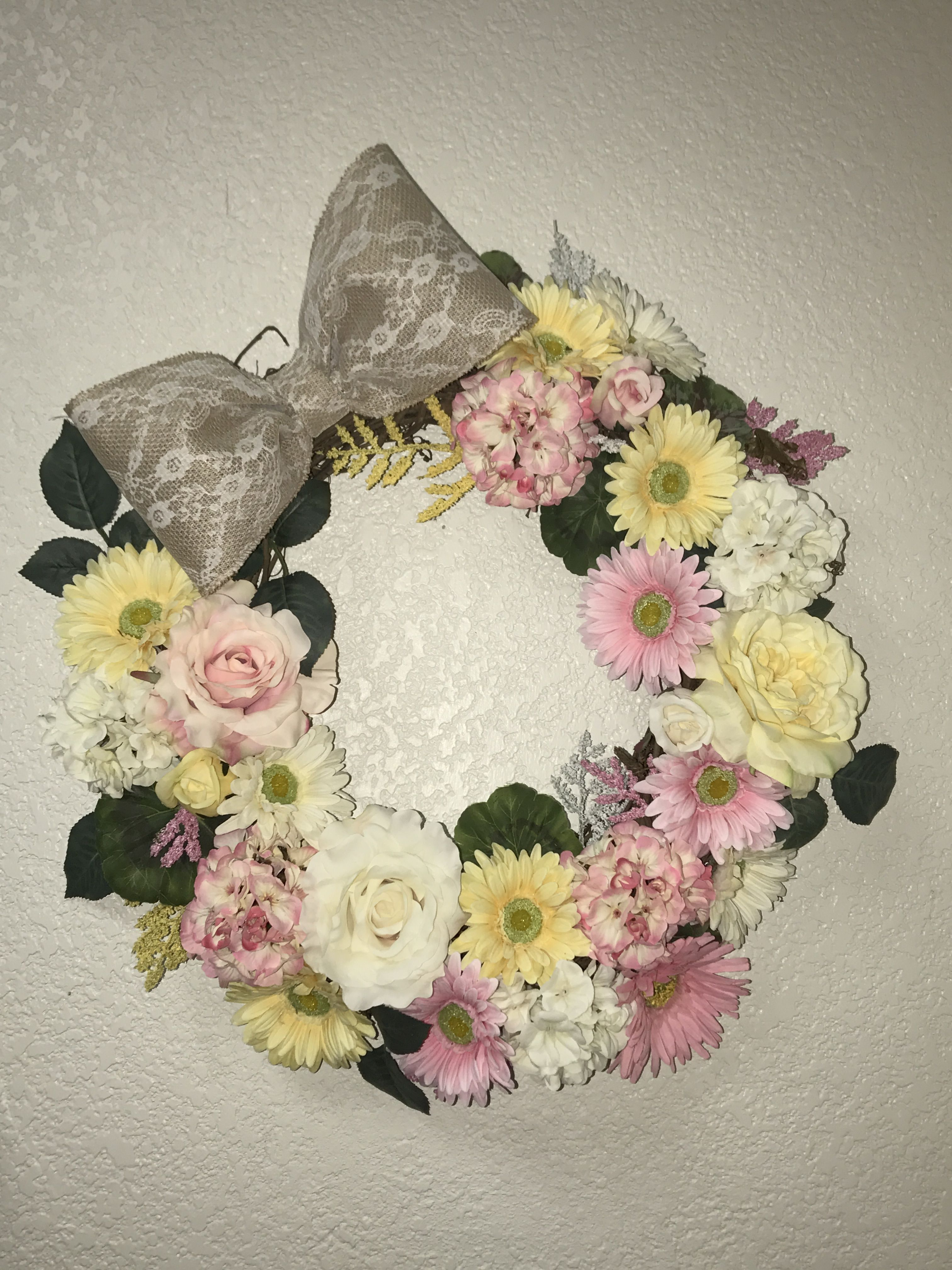 Spring Wreath $160 GreenEyedGirlCo Etsy