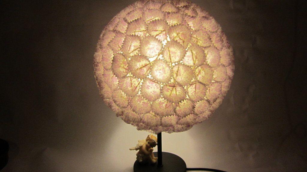 L mpara china y capacillos de cupcakes l mparas ideas - Lamparas de techo de papel ...