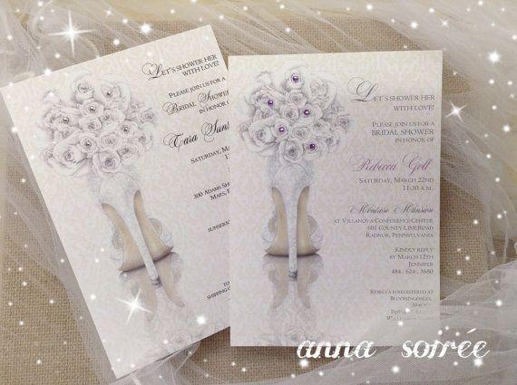bridal shower invitations shoe theme bridal by knotjustweddings 195