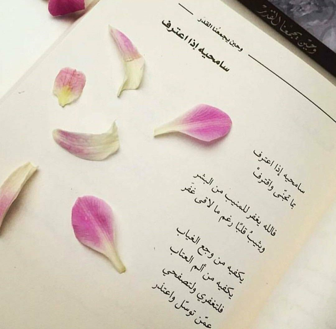 سامحيه إذا اعترف وحين يجمعنا القدر Arabic Quotes Thoughts My Books