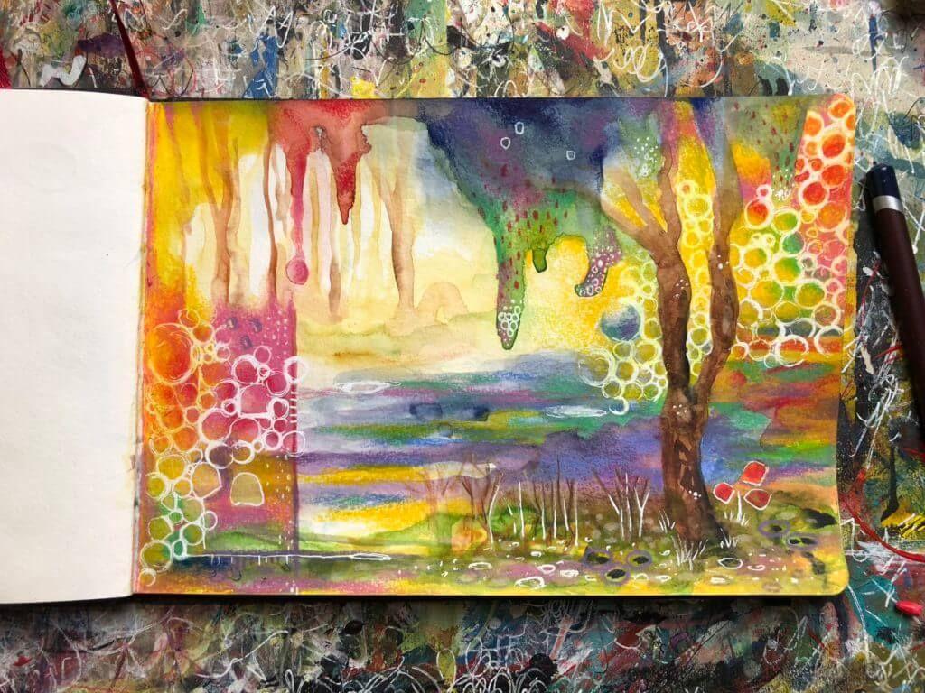 ein abstraktes bild malen so gelingt es dir ganz leicht abstrakte bilder kunstproduktion abstrakt großformat kunst frau