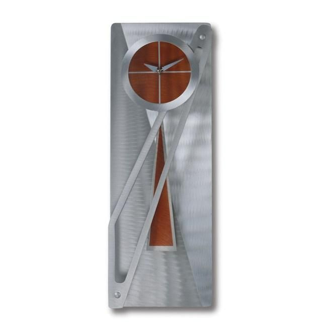 Jon Gilmore Designs Modern Times Silver Rust Pendulum Clock
